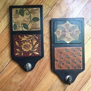 Two unique plaques key holders with hooks